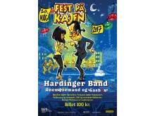 Årets Fest på Kajen plakat v. Black Strokes