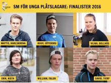 Finalister, SM för unga plåtslagare 2016