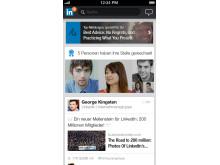 Screenshot LinkedIn Iphone5 Updates