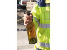 100 år gammal flaska httade på arbetsområde i Malmö