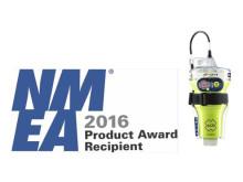 Hi-res image - NMEA logo and ACR Electronics GlobalFIX V4 EPIRB