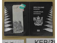 Cover of New Zealand passport recovered during the operation.