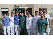 Medarbetare vid akutmottagningen på Norrtälje sjukhus