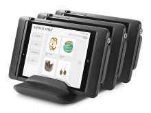 HP 8t Retail Jackets with Tablets in Verifone Charging Station