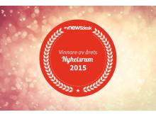 Årets Nyhetsrum 2015 - Badge