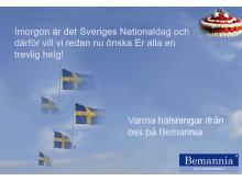 Trevlig Nationaldag önskar vi på Bemannia