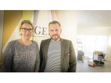 Anna-Lena Wiklund Rippert och Johan Wiklund, syskon och grundare av c/o Gerd