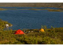 Tält vid Svansjön Tänndalen