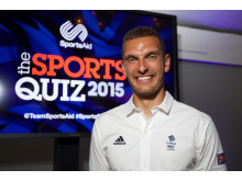 Moe Sbihi, SportsAid alumnus and Olympic rower, at SportsAid's Sports Quiz 2015 at Lord's Cricket Ground