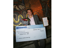 """""""Cleantech of the Year Award"""" tilldelades Mantex AB under Stockholm Cleantech Venture Day 2008"""