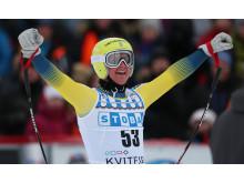 Felix Monsén efter tävling i Kvitfjell