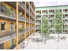 08 Fäboden_illustration - Gårdsvy 3_2 Gröna paneler 300 dpi