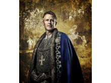 König Olav Haraldsson auf einem Gemälde im Nationalen Kulturzentrum Stiklestad.