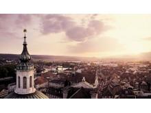 Solothurn: Sicht von der St. Ursen Kathedrale auf die Altstadt