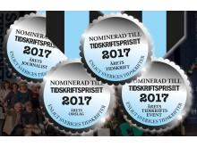 Nominerade Tidskriftspriset 2017 - medaljer, omgång 2