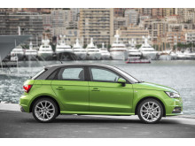 Audi A1 java green right side