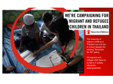 We're Campaigning for Migrant and Refugee Children in Thailand