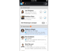 Screenshot LinkedIn Iphone5 Inbox