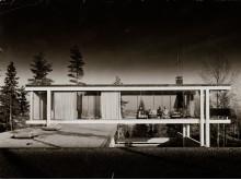 Det norske glasshuset. Geir Grungs eget hus på Jongskollen, 1963.