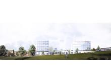 Campus Näckrosen, Göteborgs universitet, parallella uppdrag Renströmsparken, Varg arkitekter