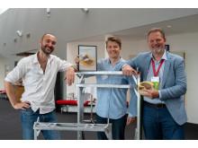De tre partnere i SpaceInvader, fra venstre Mads Klie-Holde, Jesper Rølund og Steen Frederiksen