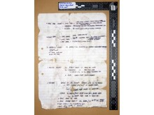 Ciaran Maxwell conviction: Handwritten note