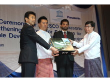 Announcement of Panasonic-UNESCO partnership in Myanmar