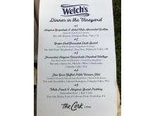 Welch's GIG menu
