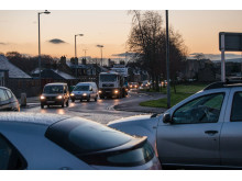 traffic queues on Wards road
