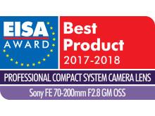 EISA Award Logo Sony FE 70-200mm F2