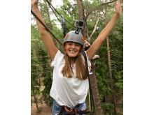 Äventyrsbana bland trädtopparna