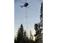 Sex helikoptrar finns att tillgå i E.ONs återställningsarbete