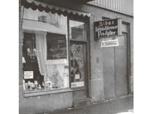 SIBAs första butik utomhus 1950-talet