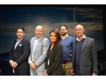 Malin Larsson razem z członkami zarządu ds. sprzedaży