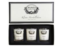 Klinta massageljus / doftljus - Herrkollektionen (3-pack)