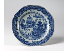 Plate with landscape design. China approx 1800-30.