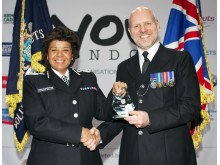 Doug Dewey (Hillingdon) Co-ordinator of the Year, with AC Pat Gallan