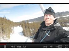 Lennart Clarin besiktigar skidliften