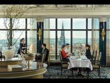 Offers an impressive view: The Panorama Restaurant, Maritim Hotel Ulm, Germany.