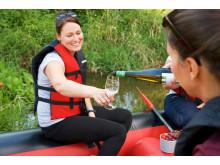 Picknick mit Weinverkostung auf der Saale