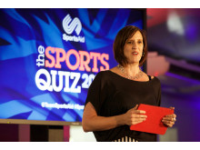 Karen Pickering, SportsAid alumna and former Olympic swimmer, at SportsAid's Sports Quiz 2015 at Lord's Cricket Ground