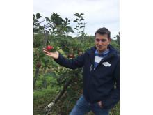 Epleprodusent Pål Audun Høyen i Svelvik er en av de flinke bøndene som jobber med å øke produksjonen av norske epler.
