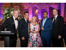 Choice Privileges Award 2017. Jamie Russo (CHI), Mark Pearce (CHI), Karen Wade (CHE), Sanjeev Choraria from SKC (Comfort Hotel Great Yarmouth), Patrick Pacious (CHI).