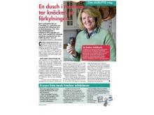 En dusch i munnen tar knäcken på förkylningen (Artikel: Året Runt #52/2012)