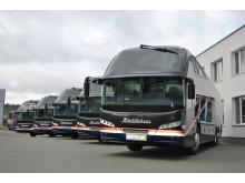 Abildskou's 5 nye Neoplan Cityliner klar til afhentning på fabrikken i Plauen