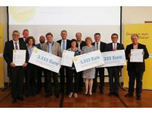 Foto: Die Gewinner des Bürgerenergiepreises Niederbayern 2015.