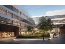 New HQ expansion - courtyard (architect drawing)