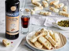 Dessert Himbeer-Pistazien-Biscotti mit Ramazzotti Amaretto