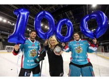 Ice hockey heroes celebrate giant achievement