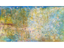 TRAINGONE - målningar av Frank Bowling